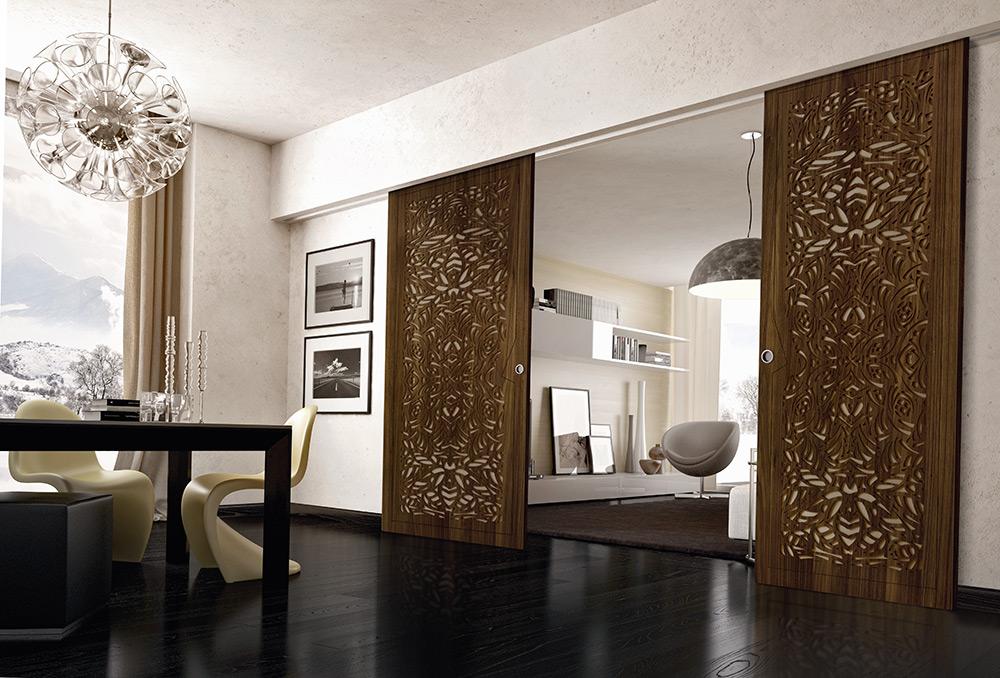 Awesome porte scorrevoli in legno photos acrylicgiftware for Porte in legno grezzo