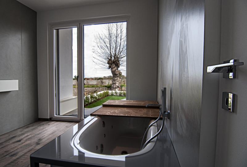 Porta finestra legno-alluminio